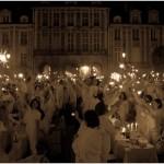 Sous les lights de la place des Vosges